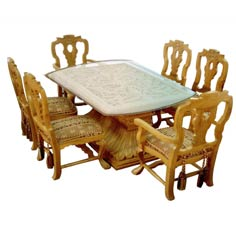 living room dining set - Wooden Dining Table With Chairs